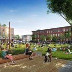 Rendering of Village Green for Needham Street development